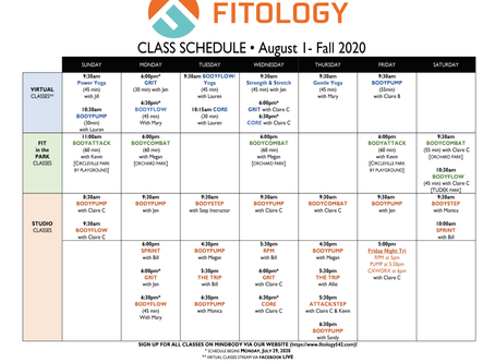 FITOLOGY Schedule on MB is up to date!