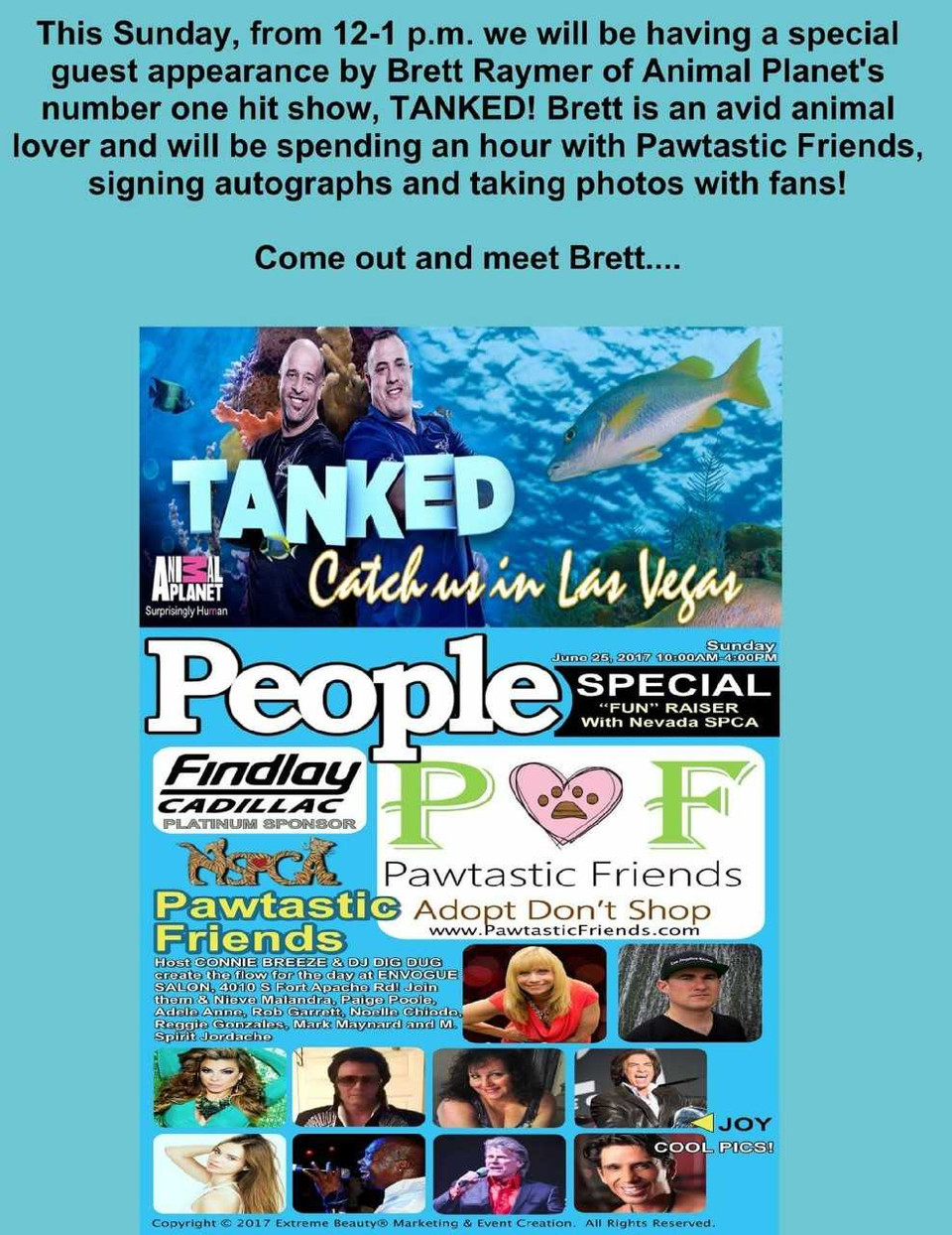 TANKED! Brett Raymer appearing at the upcoming Fundraiser!