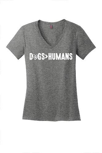 Dogs>Humans V Neck