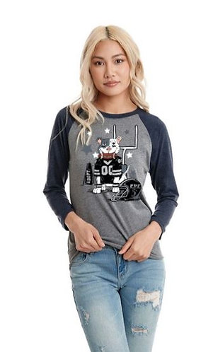 Football Inspired Long Sleeve Tee