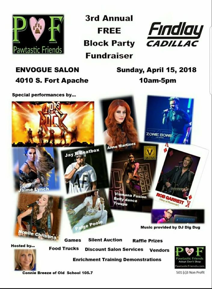The April 15th PAWTASTIC FRIENDS BLOCK PARTY is almost here!!!!
