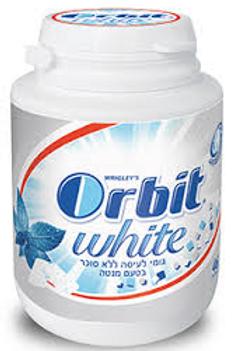 מסטיק אורביט  (Orbit) וויט בקבוקון בטעם מנטה יחידה בודדת