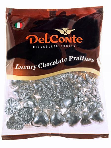 שוקולד (Delconte) לבבות כסף פרווה  500 גרם משקולדיס