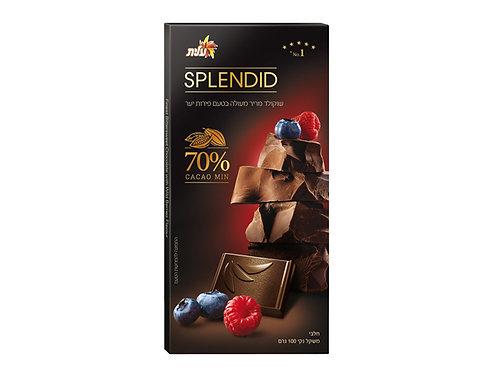 שוקולד ספלנדיט  Splendid מריר מעולה עם פירות יער 70% מוצקי קקאו