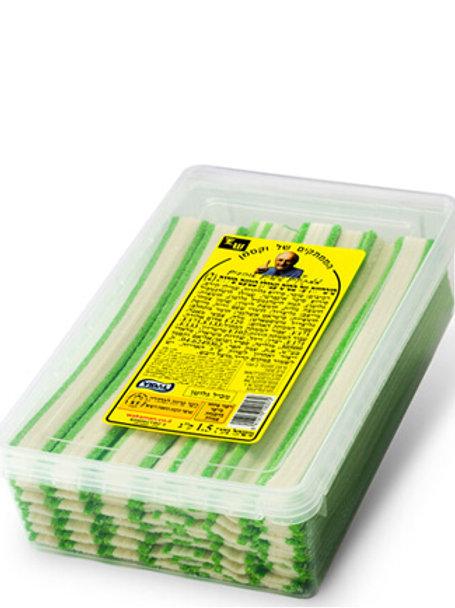 ליקריץ שטוח  ירוק ציבעוני 1.5 קילו