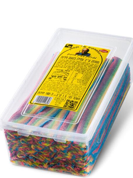 ליקריץ שטוח 6 צבעים  1.5 קילו