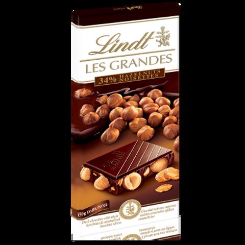לינט שוקולד מריר אגוזים 150 גרם(les grandes)