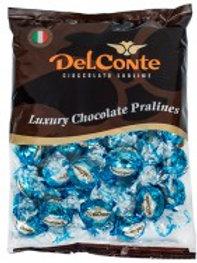 פרלין (Delconte) שוקולד חלב ישראל תכלת 500 גרם משקולדיס