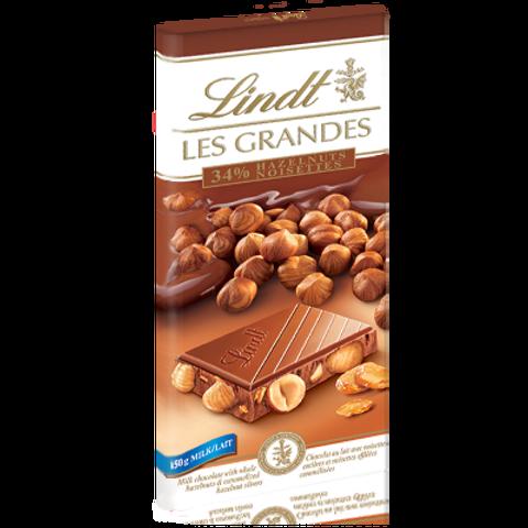 לינט שוקולד חלב אגוזים 150 גרם