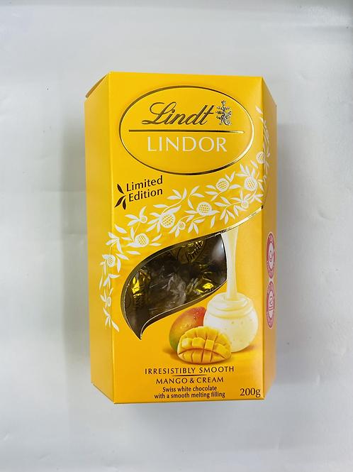 שוקולד לינדור שווצרי בטעם מנגו