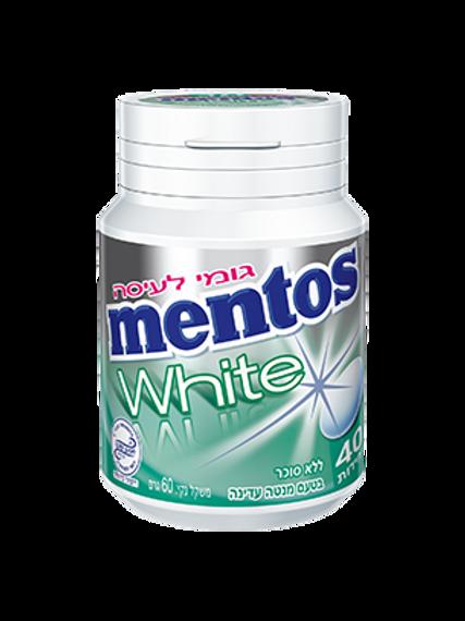מסטיק (mentos) מנטוס וויט בטעם מנטה עדינה 40 יחידות