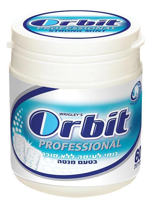 מסטיק אורביט professional( (Orbit) פרופשנל)כחול בפחית בטעם מנטה  יחידה בודדת