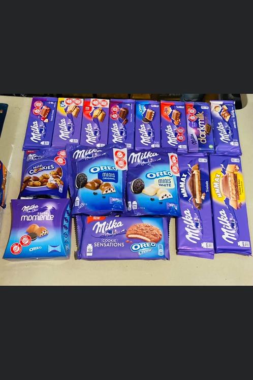 ערכת שוקולדים של מגוון סוגי אוראו