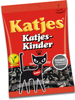 """ליקריץ קטיאס (katjes) חתולים 500 ג""""ר"""