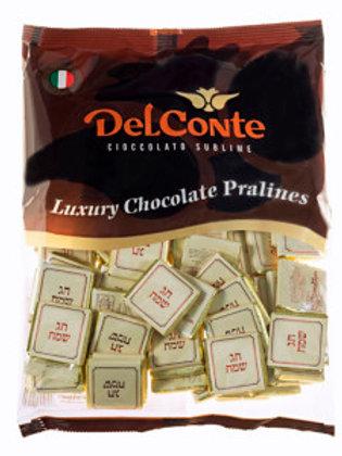 נפוליטן (Delconte) שוקולד חג שמח  פרווה 500 גרם משקולדיס