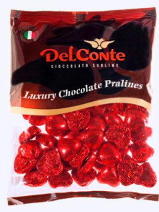 שוקולד (Delconte) לבבות אדום פרווה  500 גרם משקולדיס