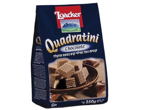 לואקר (Loacker) קוביות וופל במילוי קרם שוקולד