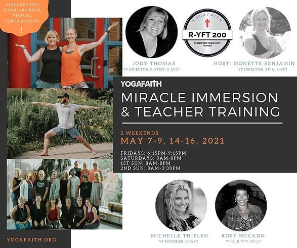 YogaFaith London 2021 Virtual Yoga Training