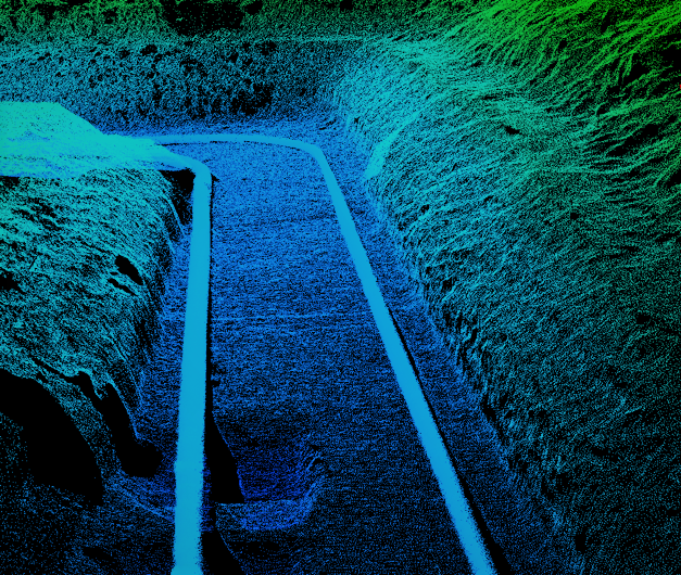 Two Pipes in Ditch LiDAR