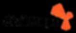 Logo - Black & Orange on Clear on Square