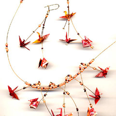 Bijoux en origami de V. Wardega