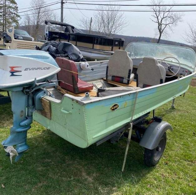 Mirro tin boat$1,000