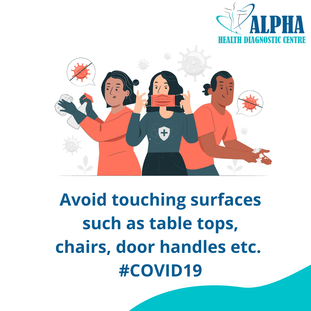Avoid touching surfaces such as table to