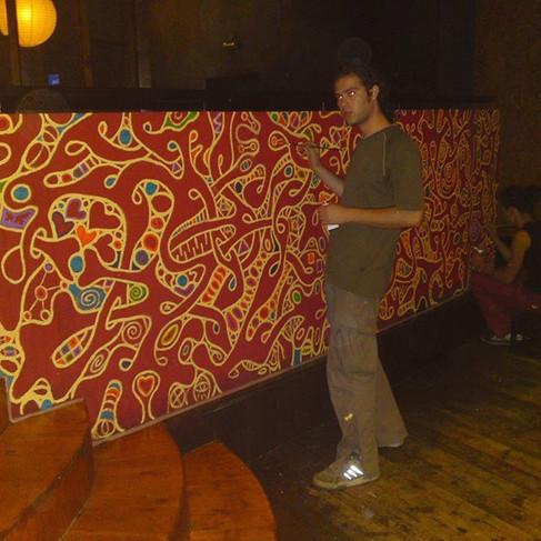Mega night club _ #mural #muralpainting