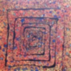 Organika 100x100 cm _ acrylic colors on