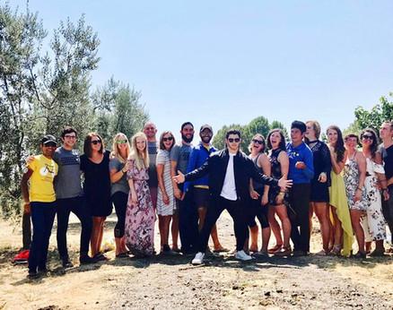 Team Bike Beyond with Nick Jonas wine tasting in Napa