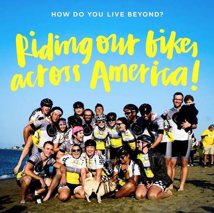 Team Bike Beyond at finish line