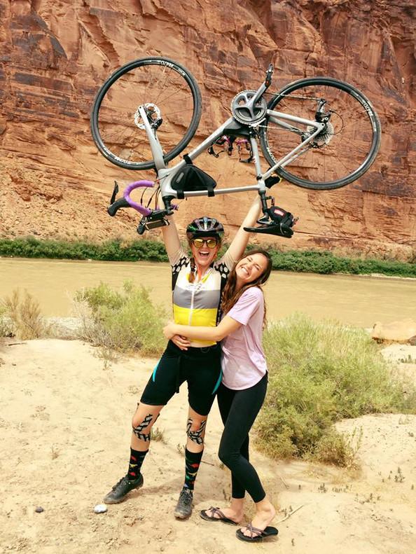 Sierra and sister Hailey when family surprised Sierra on Utah River