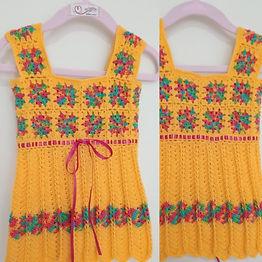 Vestido Bebê Square Amarelo