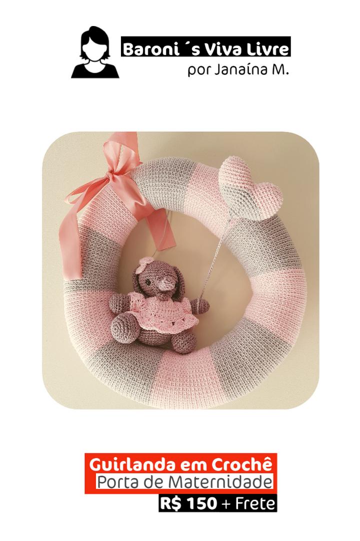 Guirlanda em Crochê | Porta Maternidade