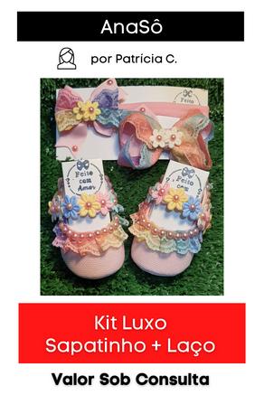 Kit Luxo: Sapatinho + Laço