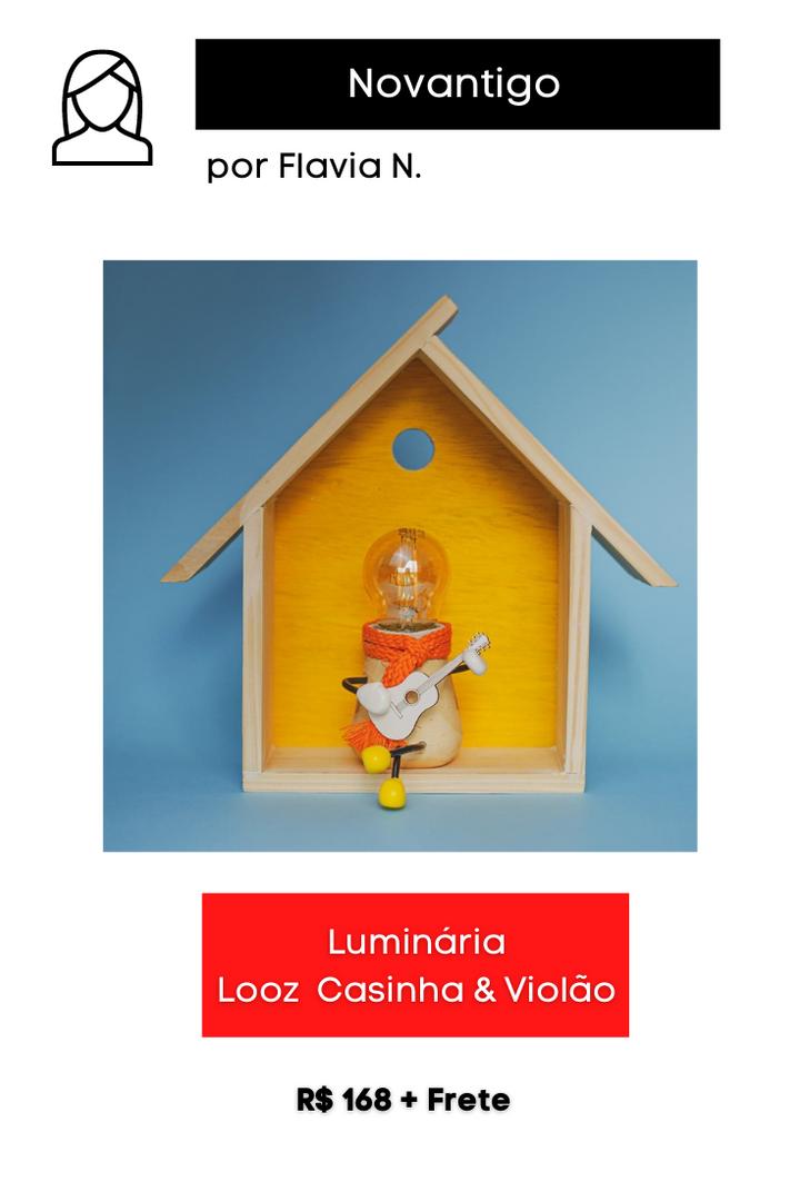 Luminária Looz Casinha & Violão