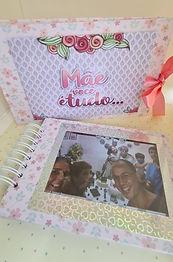 "Álbum de fotos  ""Doces memorias"" + Caixa Cartonada"