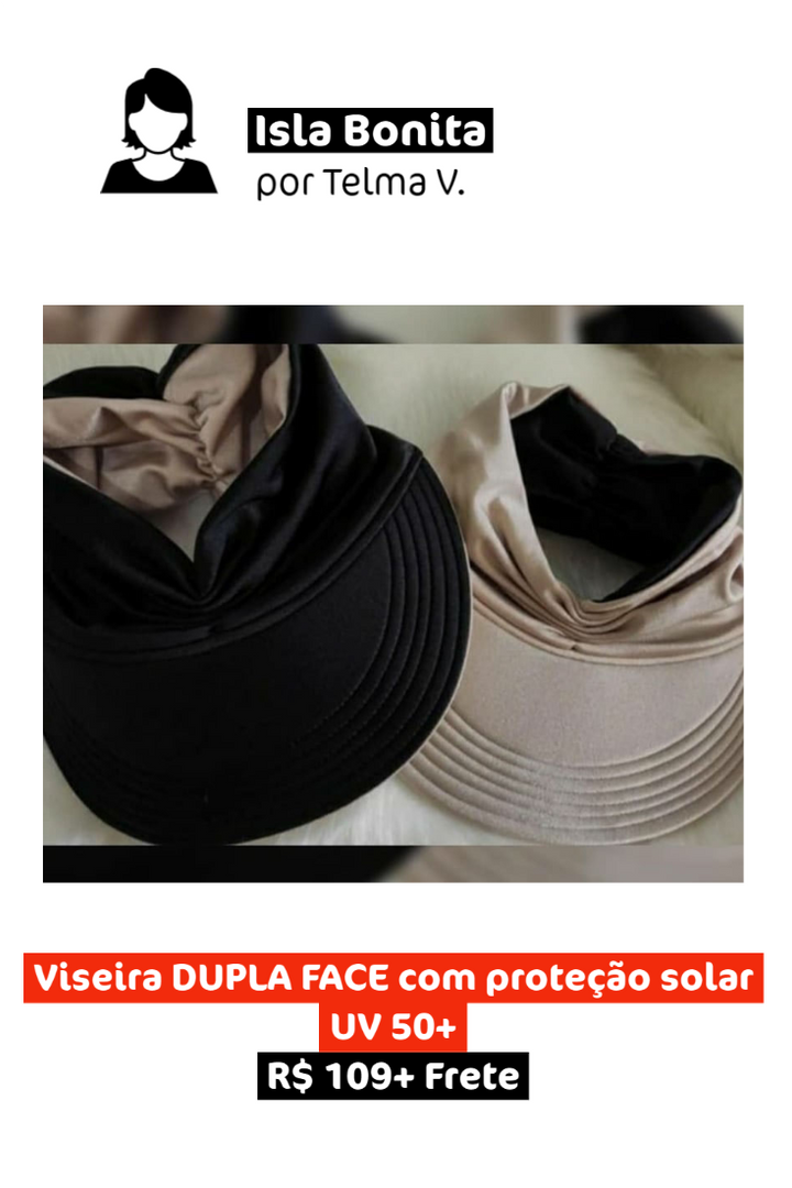 Viseira Dupla Face com Proteção Solar