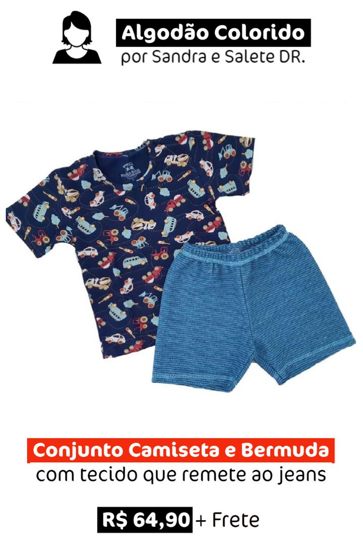 Conjunto Verão: Camiseta e Bermuda