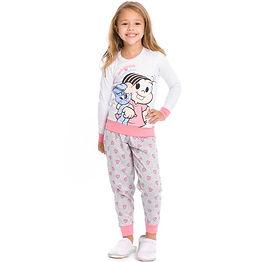 Pijama longo infantil Turma da Mônica