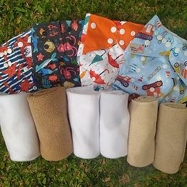 Kit introdução às fraldas ecológicas