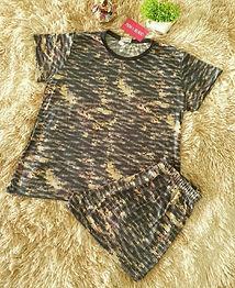Pijama Curto Estampado