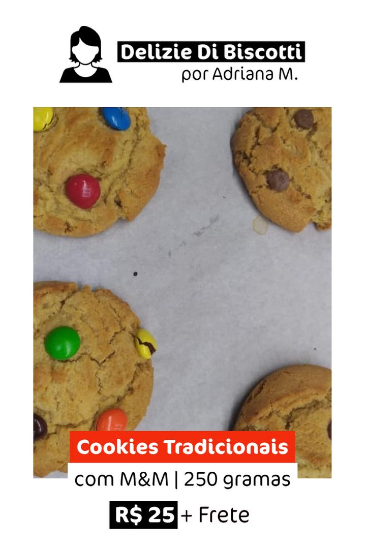 Cookies Tradicionais com M&M