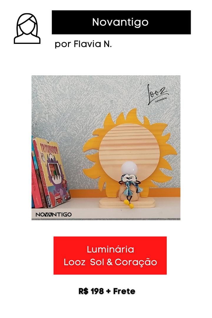 Luminária Looz Sol & Coração