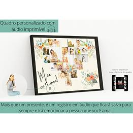 Quadro Personalizado com Áudio Imprimível