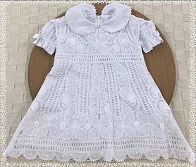 Vestido Infantil todo na Renda Renascença