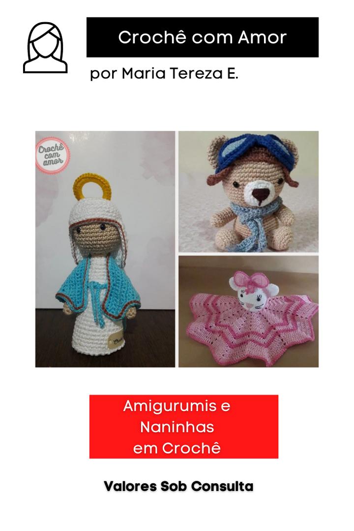 Amigurumis e Naninhas em Crochê