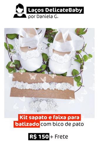 Batizado   Kit Sapato + Faixa