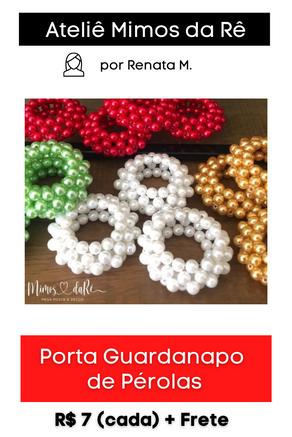 Porta Guardanapo de Pérolas | Modelo Ouriço