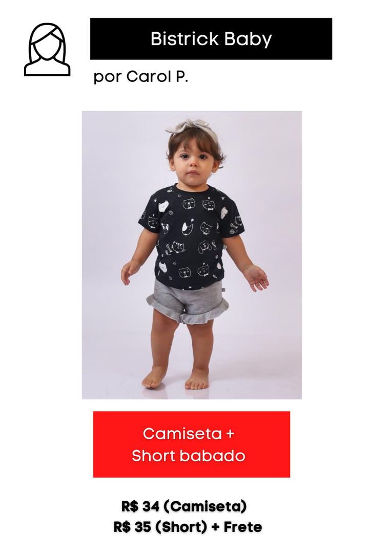 Camiseta + Short Babado